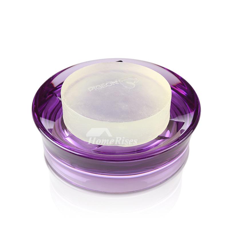 Creative Acrylic Soap Dish Round Shaped