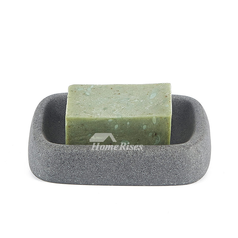 Designer Free Standing Resin Stone Soap Dish