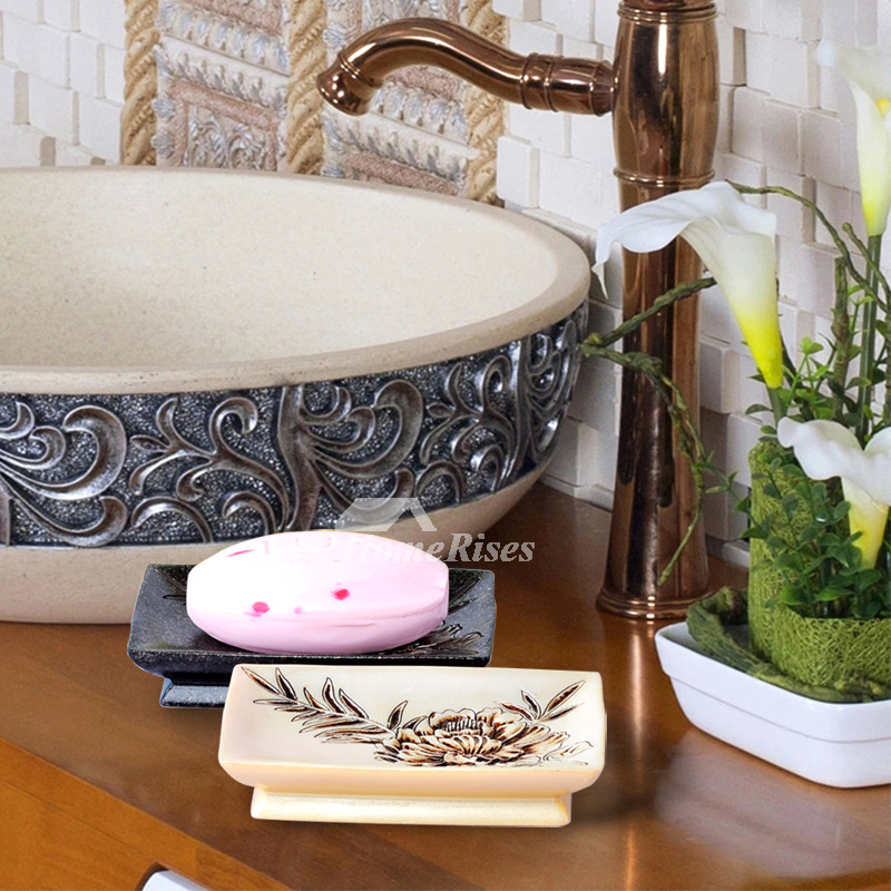 Wholesale Soap Dishes Carved Black White Free Standing