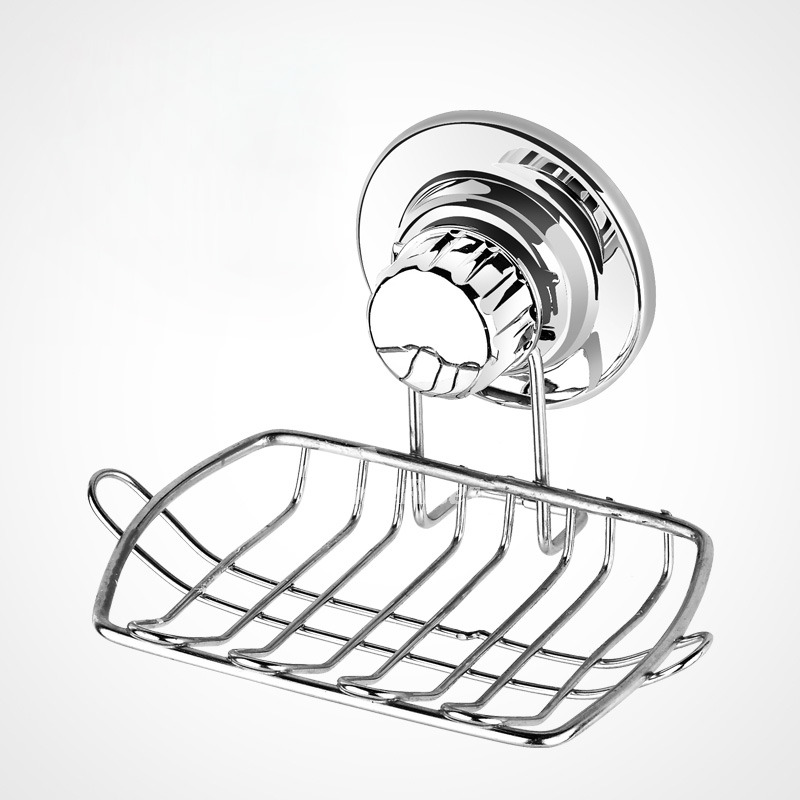 Stainless Steel Suction Cup Soap Dish For Bathroom