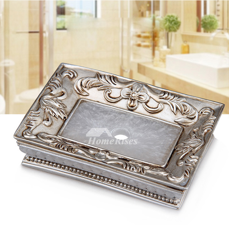 Creative Free Standing Rectangular Shaped Vintage Soap Dish