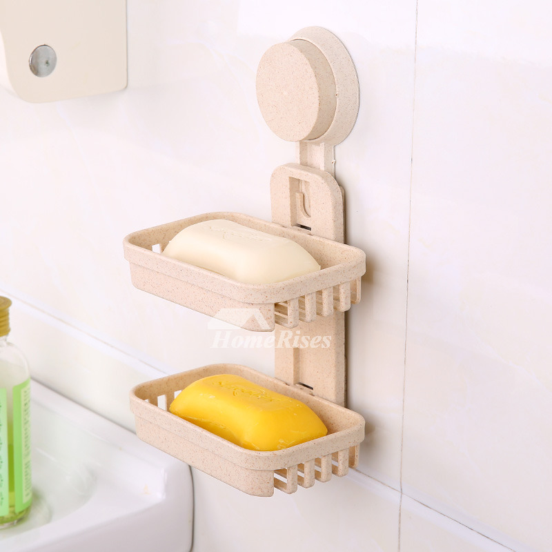 Double Layer Modern Soap Dish Suction Cup