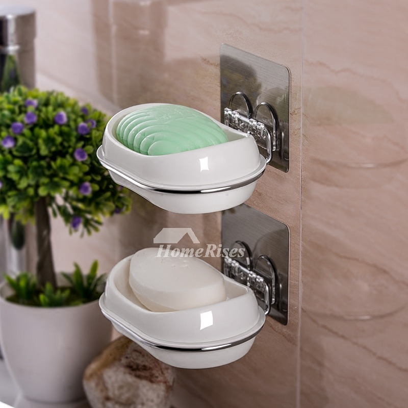 Oval Shaped Double Layer No Drill Best Soap Dish