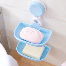 Double Layer Design Soap Dish Suction Cup
