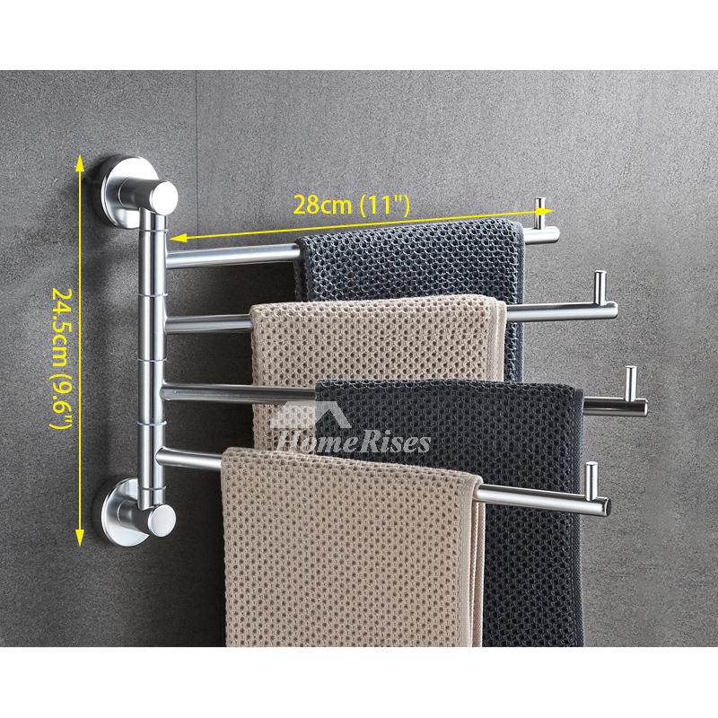 Adjustable Towel Rack Aluminum Wall Mount Bathroom