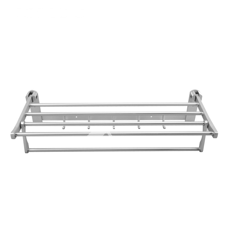Towel Rack Bathroom Aluminum Painting Wall Mount With Hook