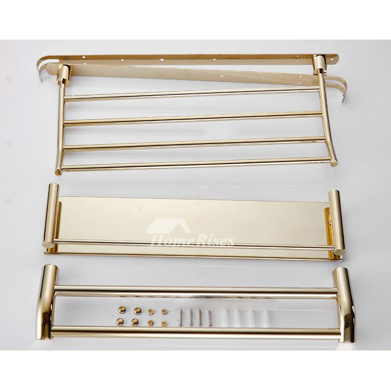 Designer Stainless Steel Bathroom Shelves Three Layer