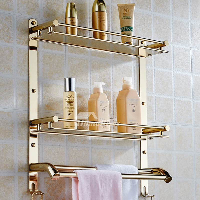 Designer three layer stainless steel bathroom shelves - Bathroom shelves stainless steel ...