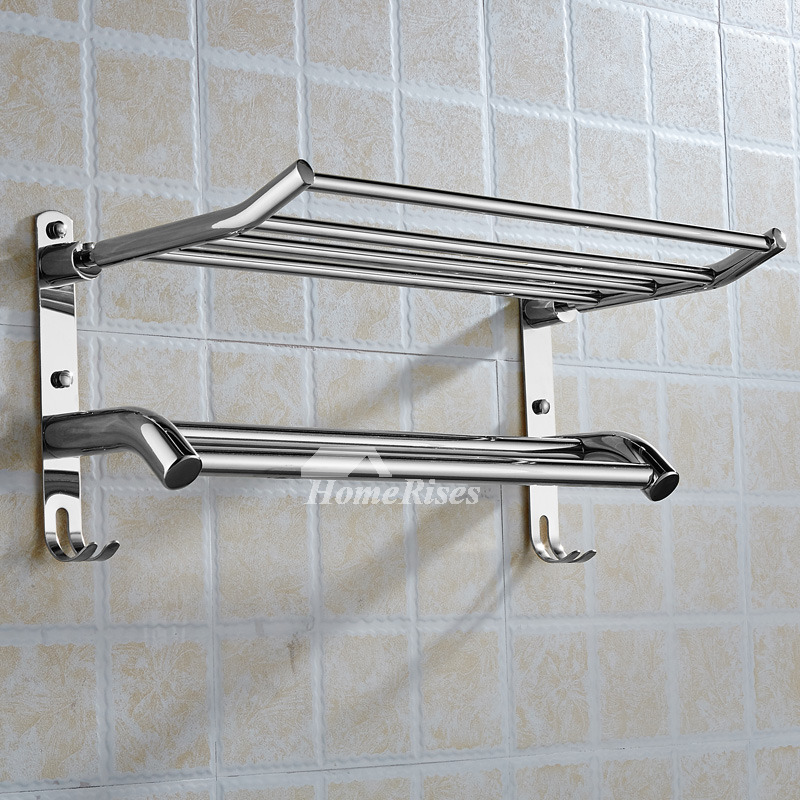Modern Silver/Gold Mount 2 Layer Wall Shelves Bathroom
