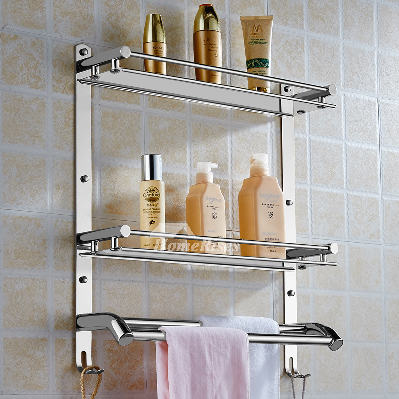 Solid Stainless Steel Bathroom Shelves