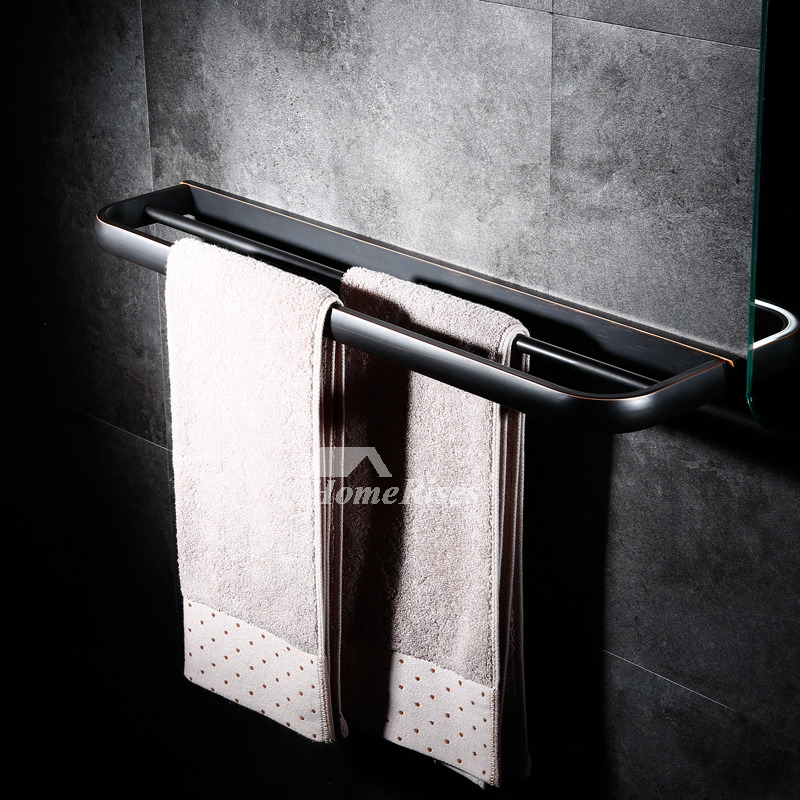 Oil Rubbed Bronze Towel Bar Brass Wall Mount Black