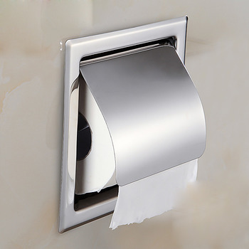 Recessed Toilet Paper Holder Single/Double Stainless Steel