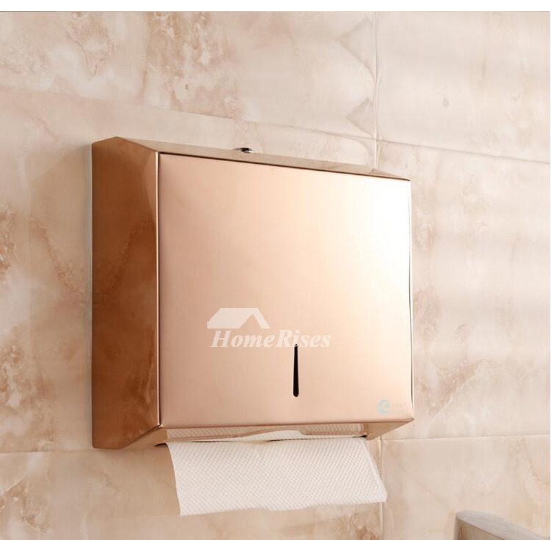 Rose Gold Commercial Toilet Paper Holder Stainless Steel