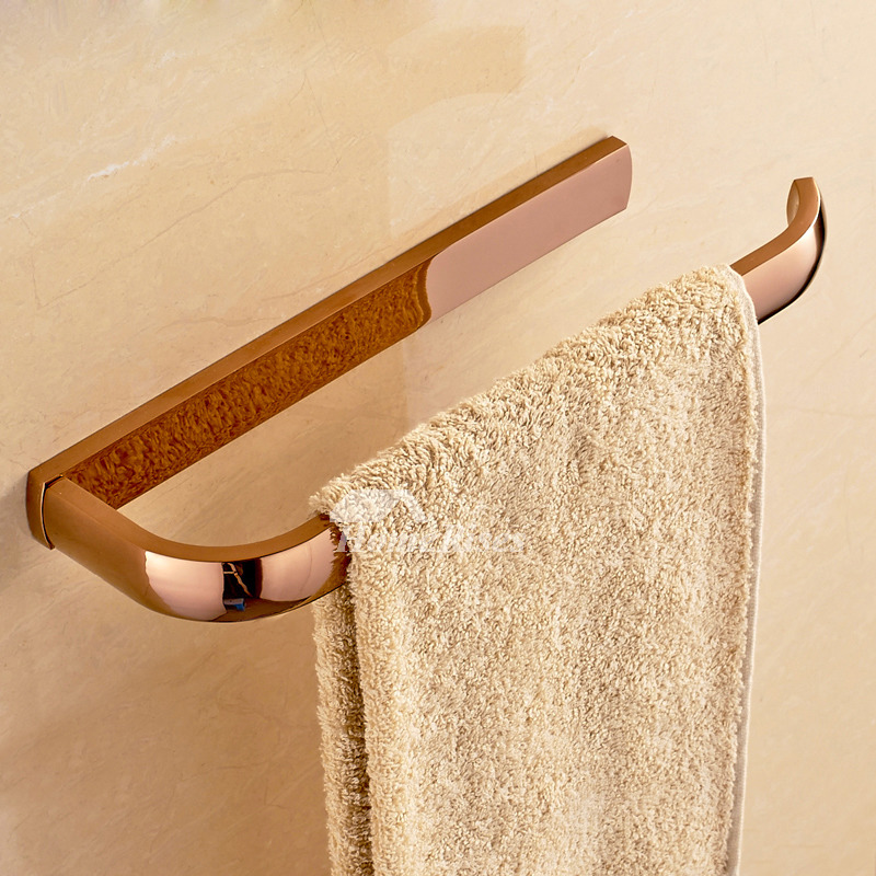 Vintage Wall Mount Brass Towel Bar Single Pole
