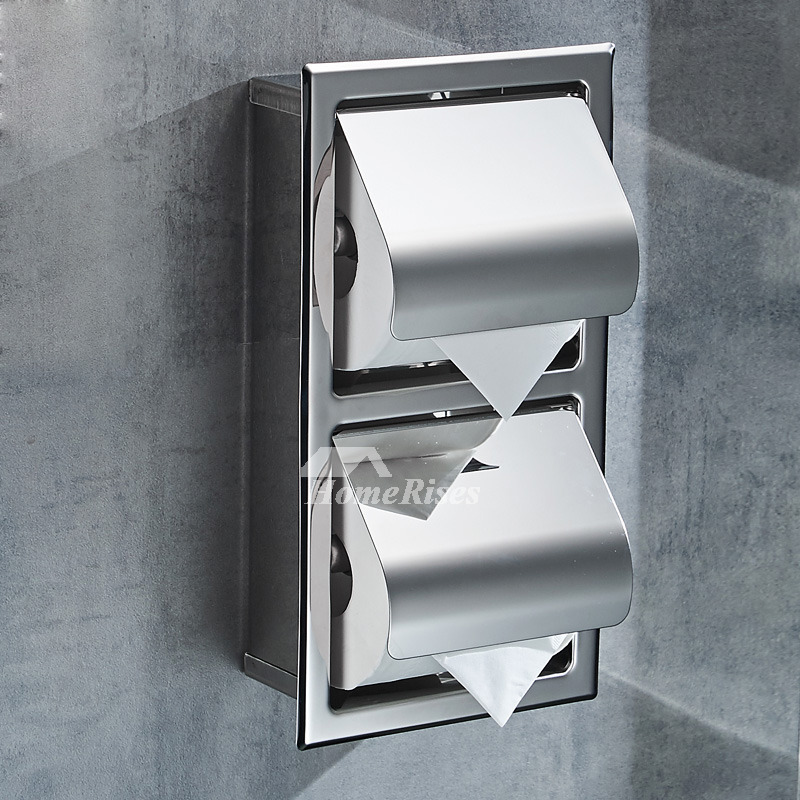 Recessed Toilet Paper Holder Stainless Steel Chrome