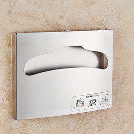 Toilet Seat Cover Dispenser Wall Mounted Stainless Steel Brushed