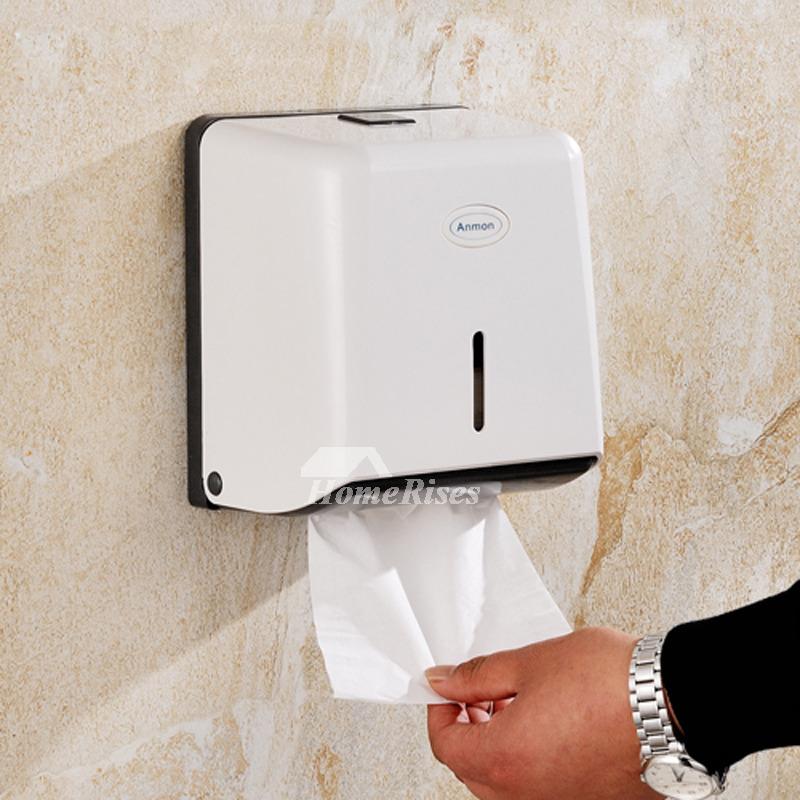 No Drill Abs Plastic White Toilet Paper Holder