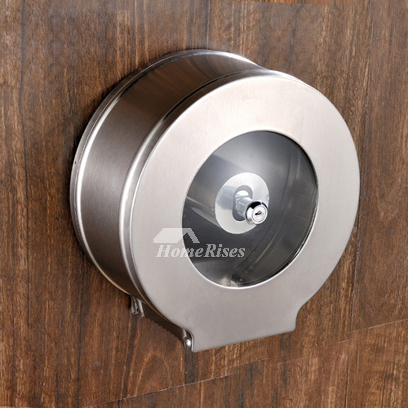 Designer Wall Mount Commercial Toilet Paper Holder Stainless Steel