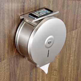 Toilet Paper Holder Commercial Wall Mount With Shelf Stainless Steel