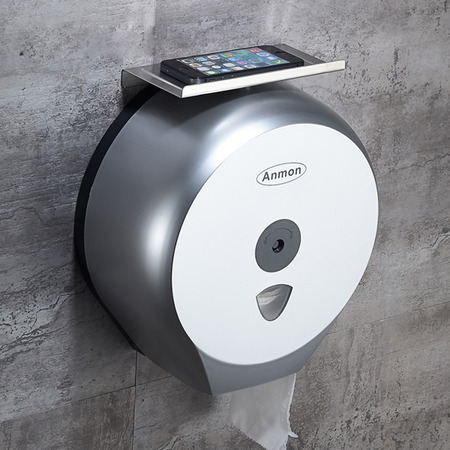 Toilet paper holders made with plastic