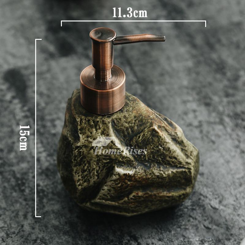 Stone Soap Dispenser Ceramic Free Standing Liquid