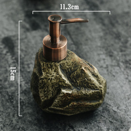 Stone Soap Dispenser Ceramic Free Standing Liquid