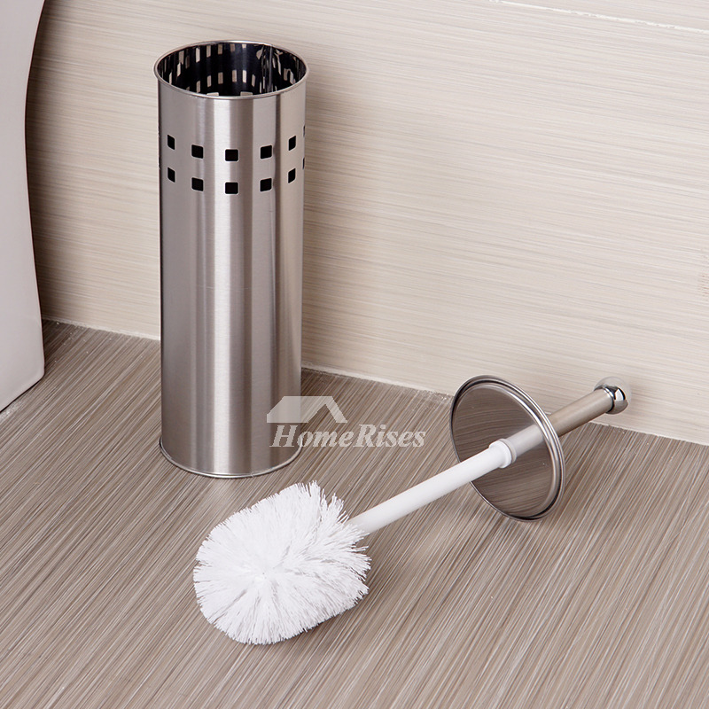 Column Shaped Metal Unique Toilet Brush Holders