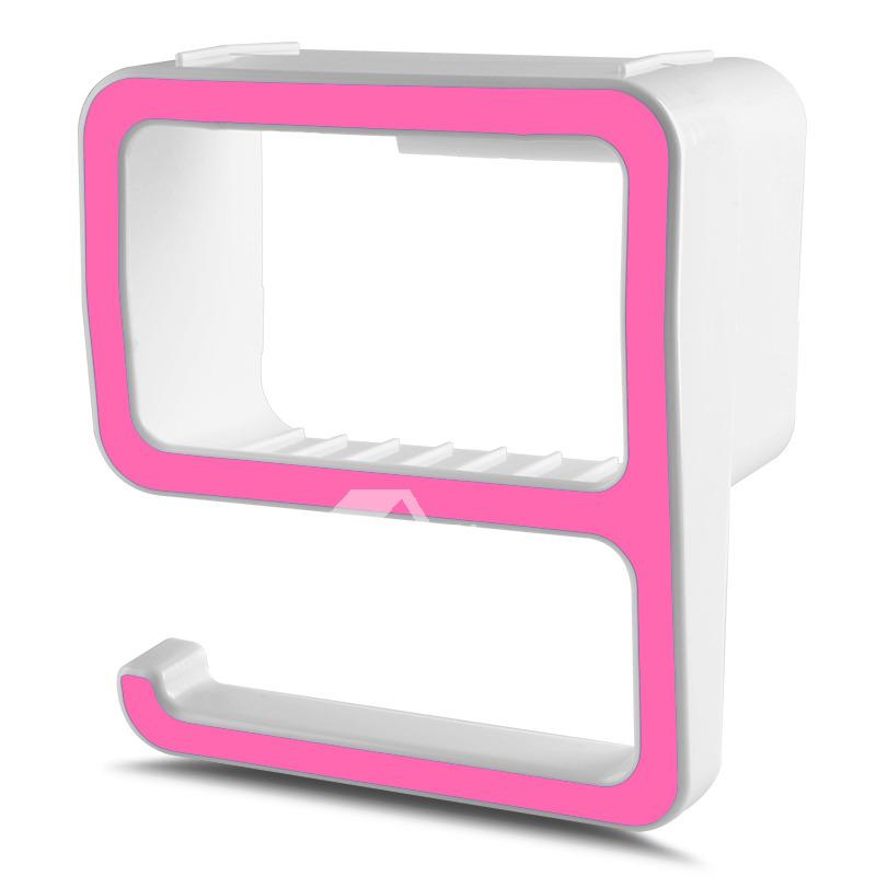 Designer No Drill Bathroom Shower Shelves ABS Plastic