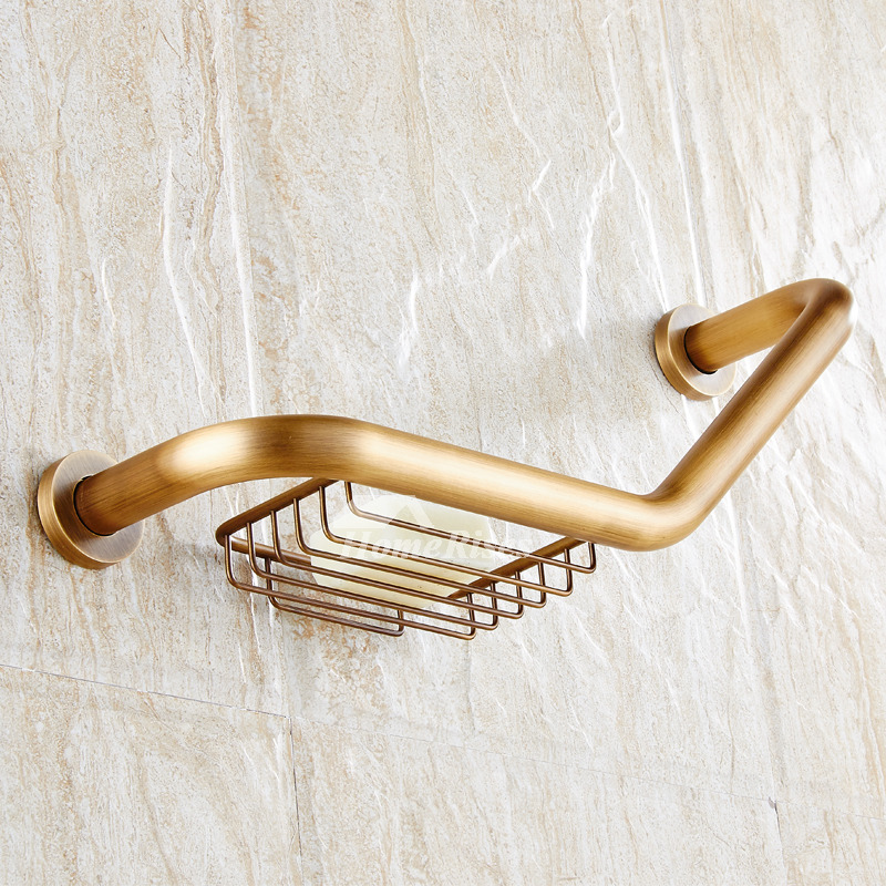 Designer Wall Mount Antique Brass Designer Grab Bars