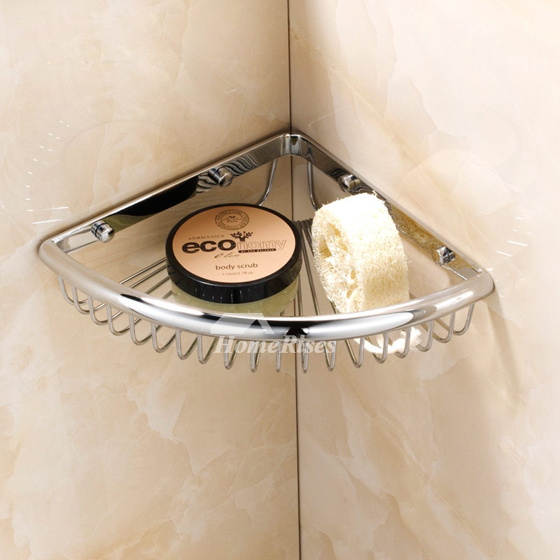 Small Corner Shelf For Bathroom Brass Chrome Wall Mount