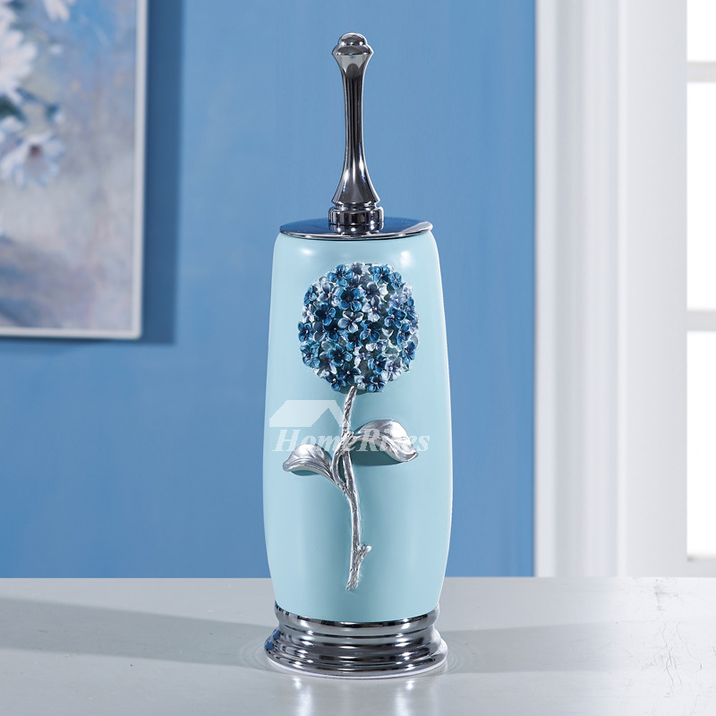 Simple Free Standing Resin Toilet Brush With Holder