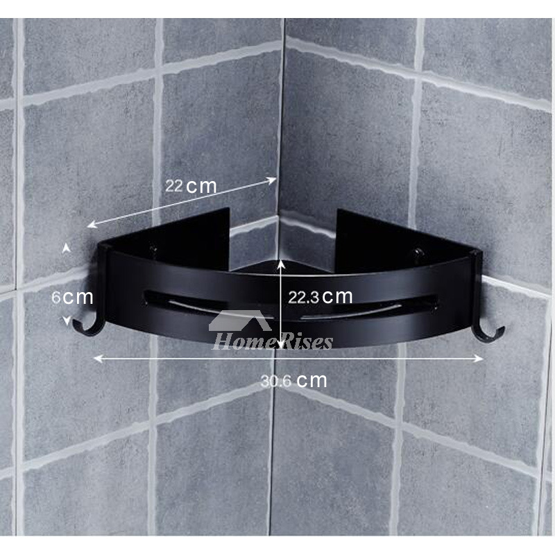 Designer Corner Shelves Bathroom Mucilage Glue In Black