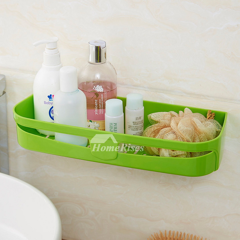 Plastic bathroom shelves