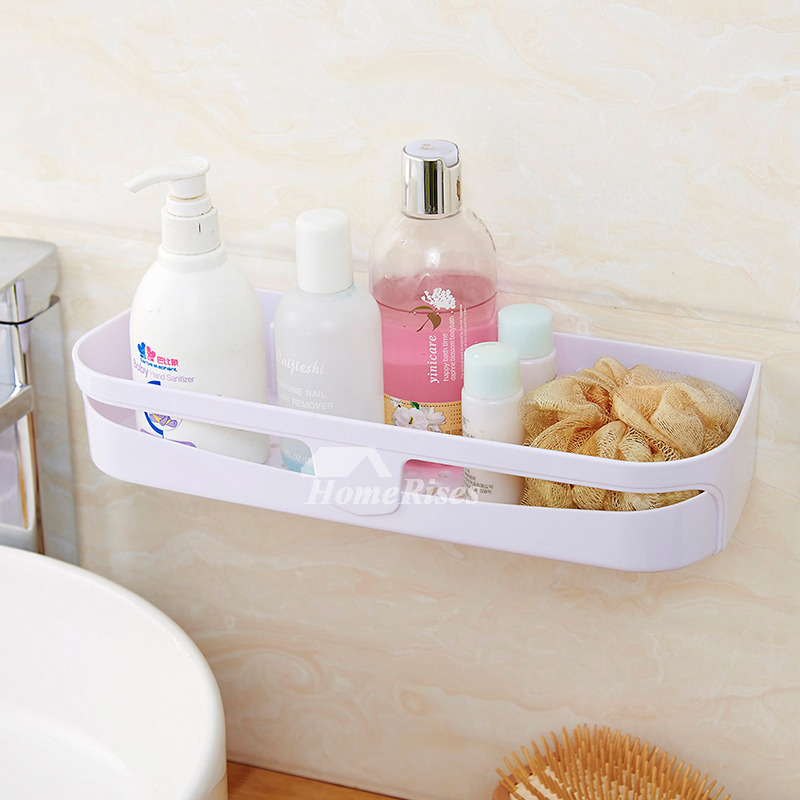 Plastic Bathroom Shelves Suction Cup