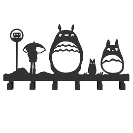 Cheap Steel Totoro Shaped Decorative Bathroom Hooks