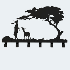 Unique Bathroom Towel Hooks Wall Mount Deer Shaped