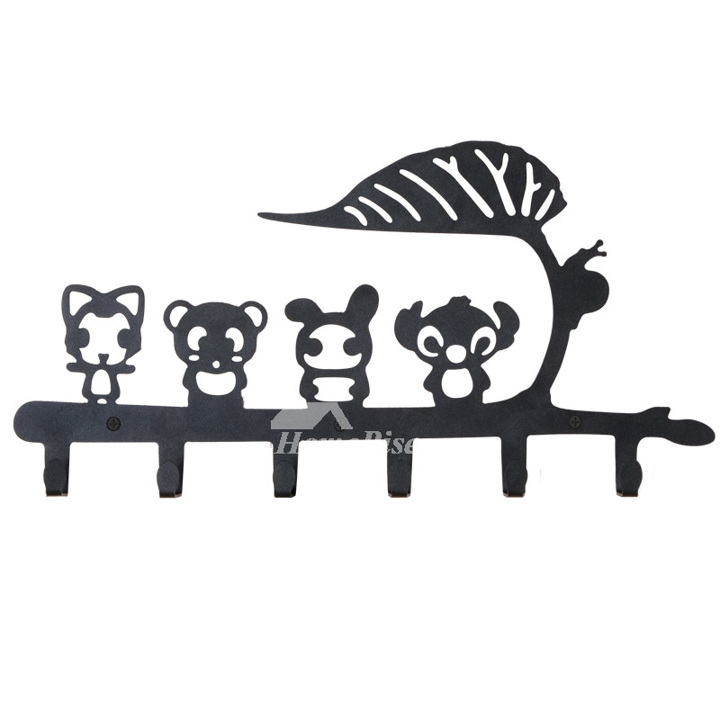 Cute Wall Mount Modern Bathroom Hooks Steel Painting