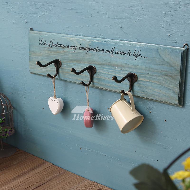 No Drill Rectangular Shaped Wooden Towel Hook Bathroom