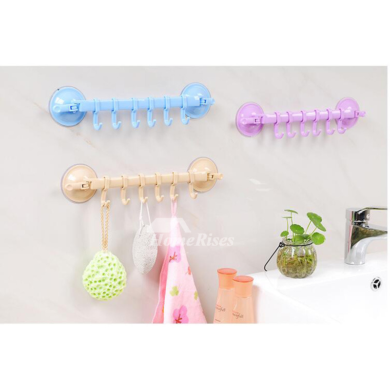 Simple Suction Cup Plastic Decorative Hooks For Bathroom