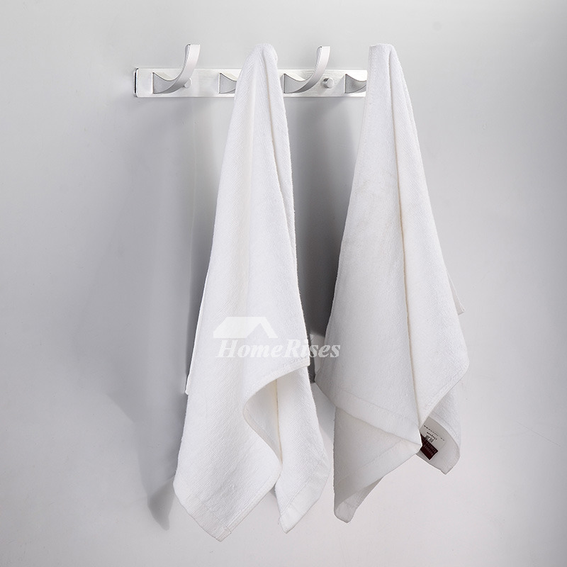 Designer White Aluminum Alloy Bath Towel Hook Rack