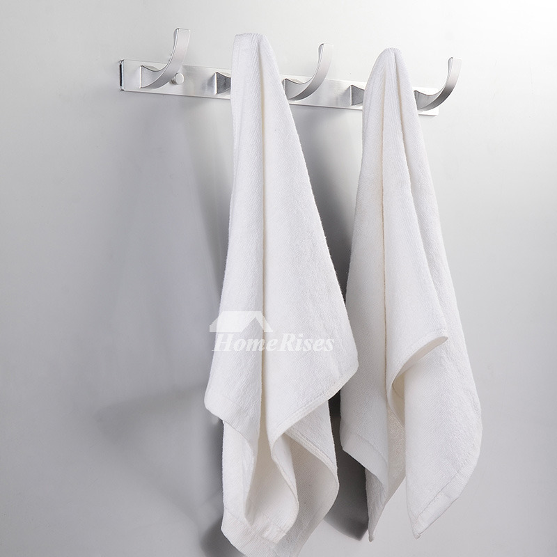 white towel hooks for bathrooms designer white aluminum alloy bath towel hook rack 24688