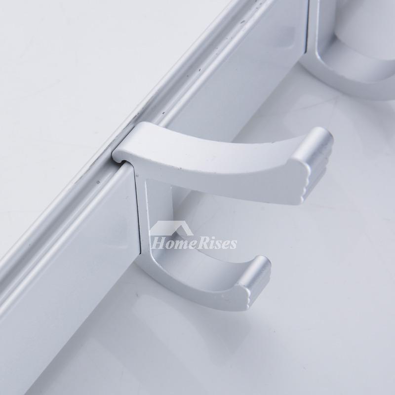 No Drill Aluminum Bathroom Hooks For Towels