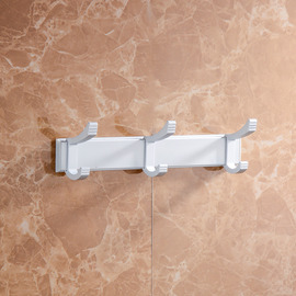 No Drill Aluminum Bathroom Hooks For Towels