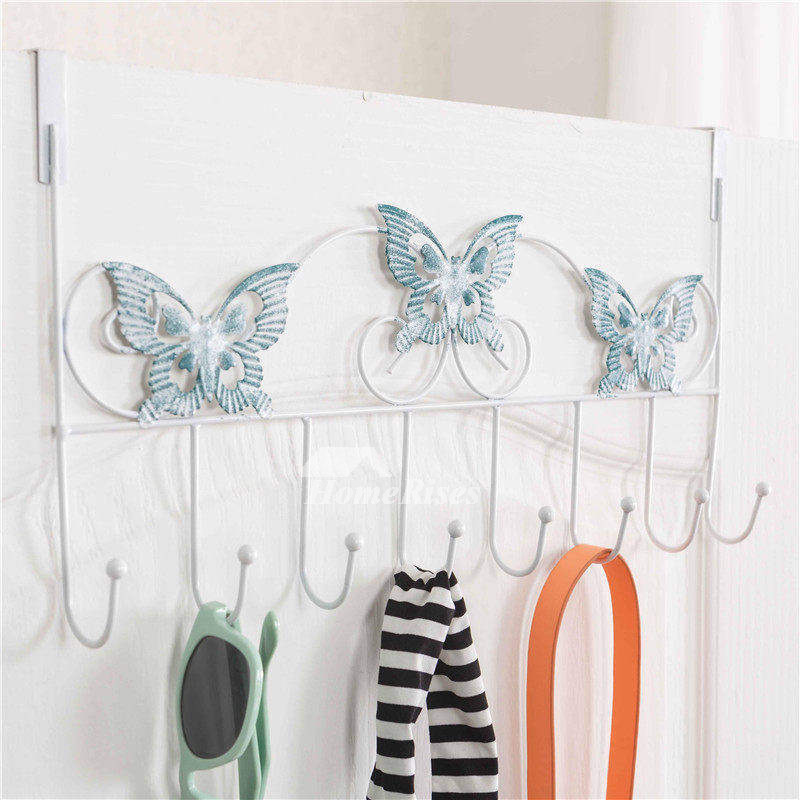 Exquisite Erfly Shaped Bathroom Door Towel Hooks