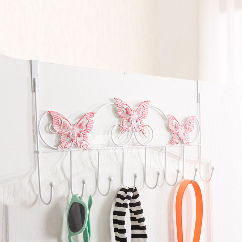 Exquisite Butterfly Shaped Bathroom Door Towel Hooks