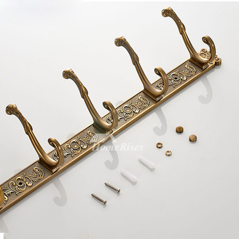 Antique Carved Decorative Wall Hooks For Bathroom