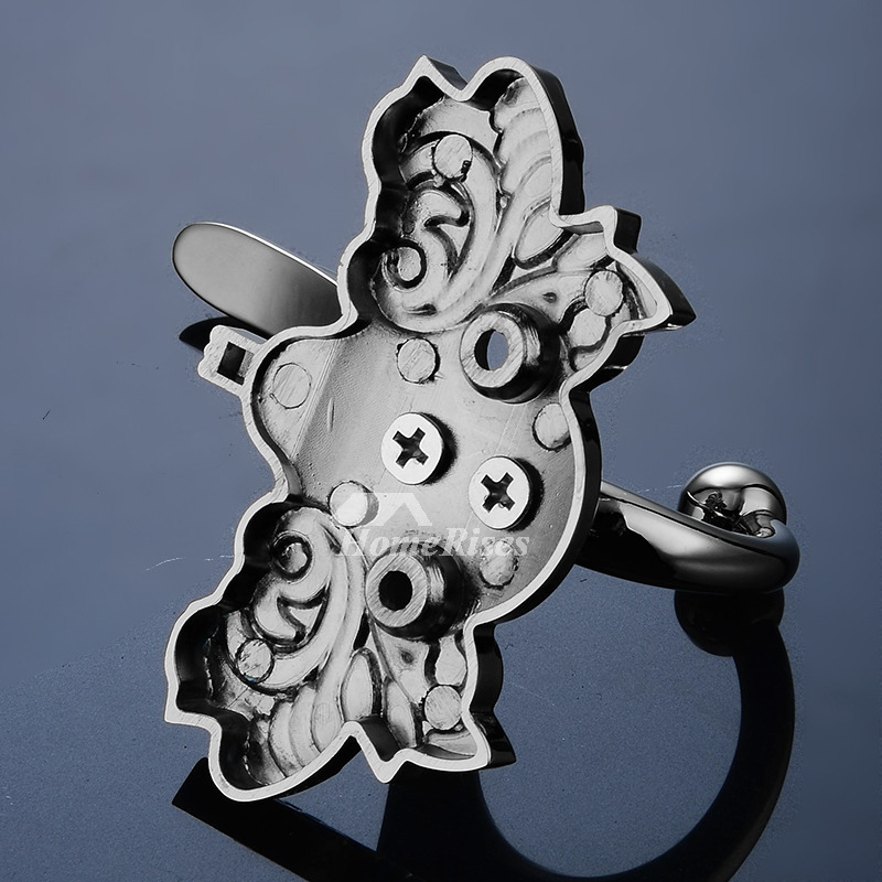 Modern Chrome Robe Hook Carved Rose Gold Butterfly Shaped