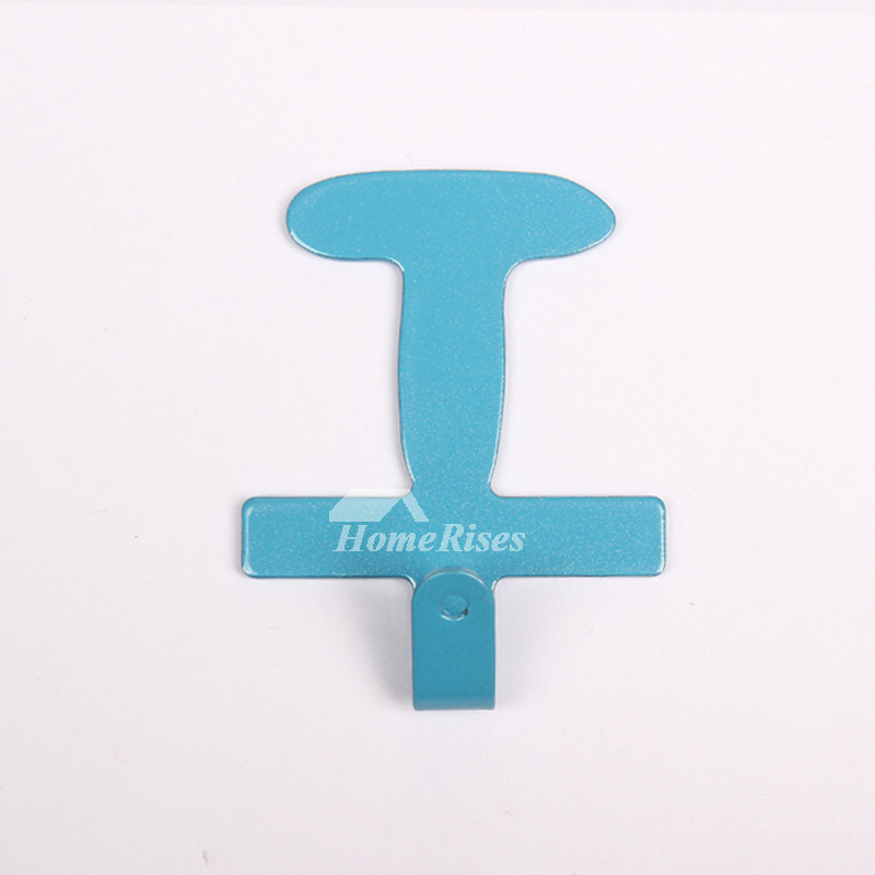 Cute Letter Shaped Towel Hooks For Bathroom No Drill Metal