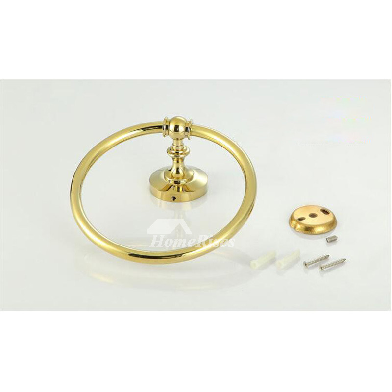 Luxury Wall Mount Brass Towel Ring Circle Shaped