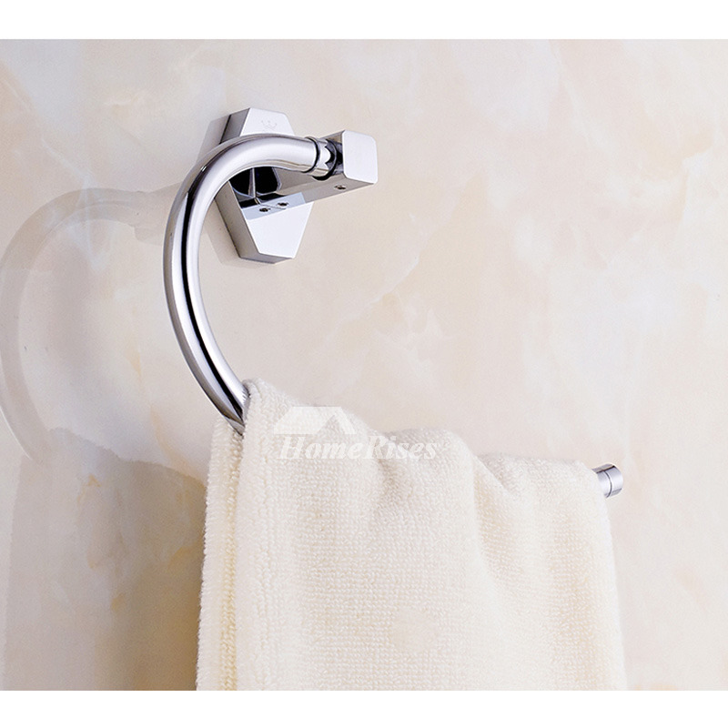 Towel Ring Chrome Brass Wall Mount Smooth